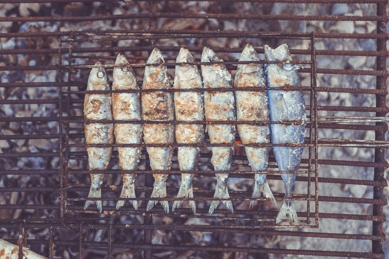 Grilled sardines in Lagos