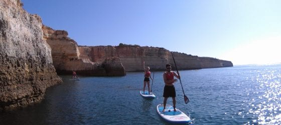 stand-up paddle in Benagil