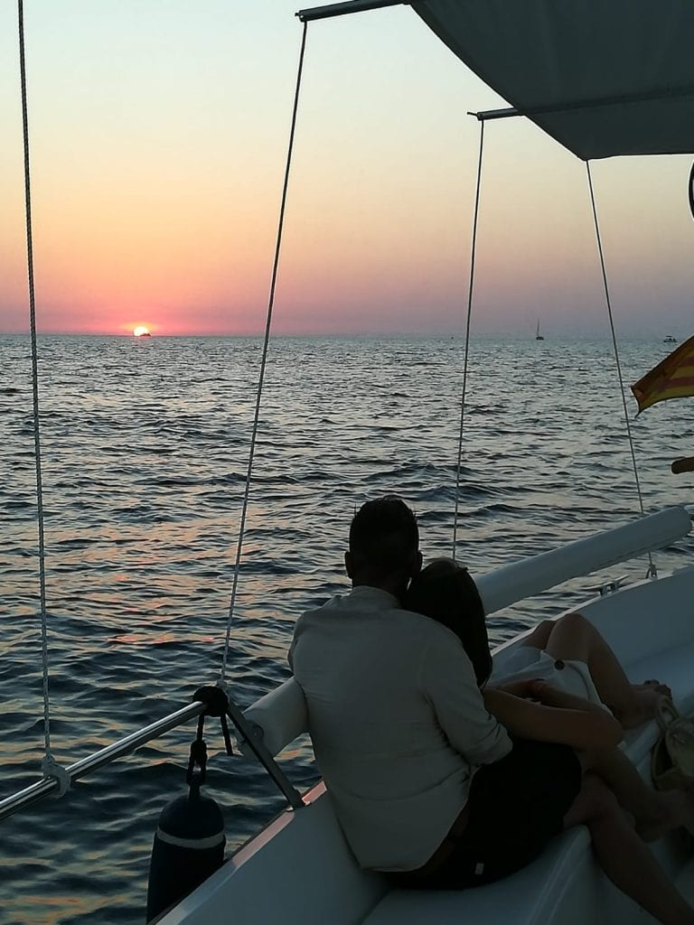 The most magical time of the day for a boat tour? Sunset!