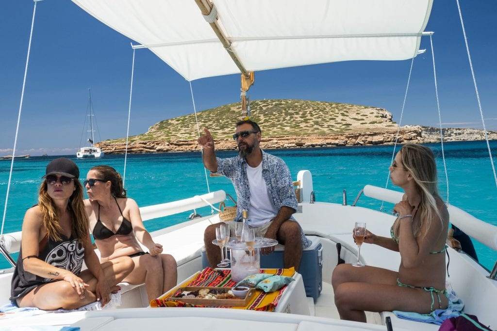 The skipper will tell you all you want to know about Ibiza
