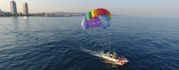 Parasailing in Barcelona watersports in Barcelona