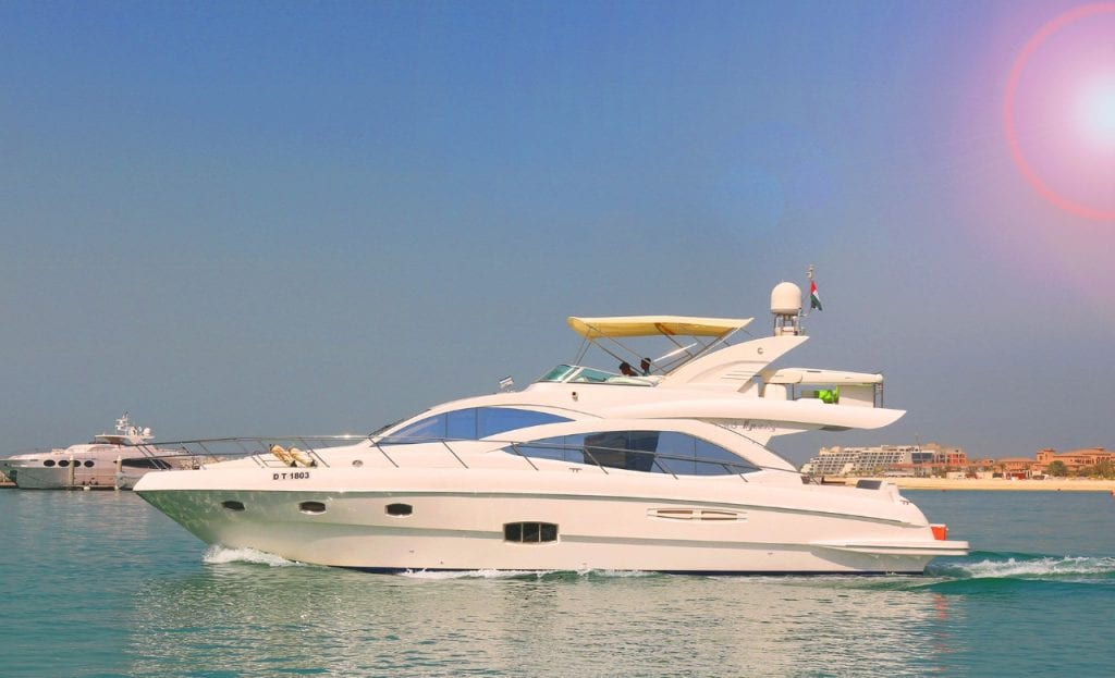 luxury boat in Dubai