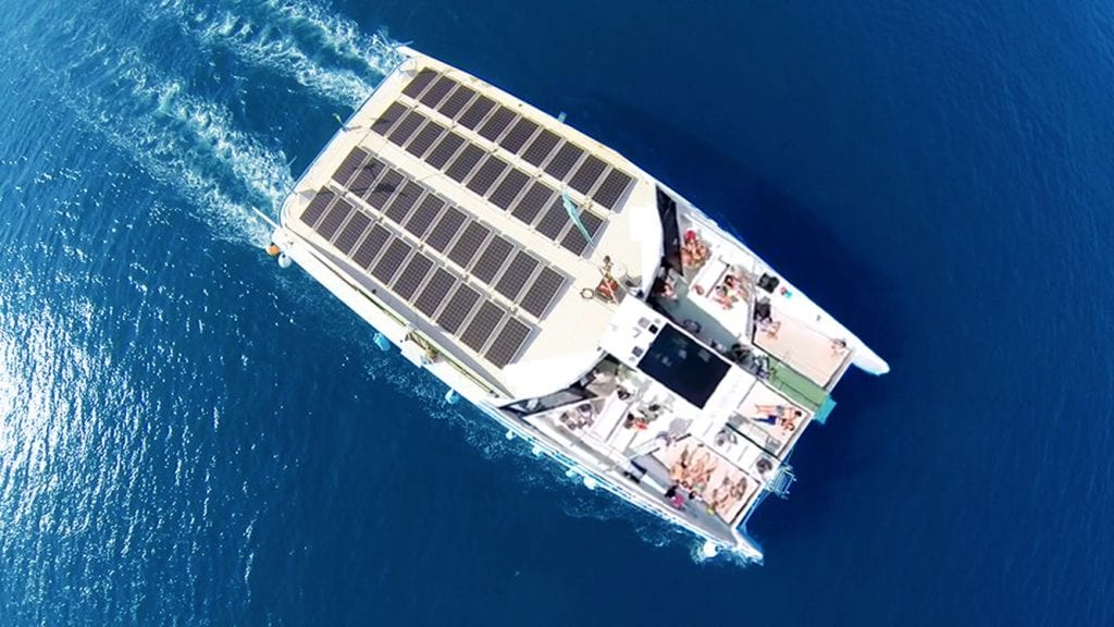 We have solar panels to power the boat