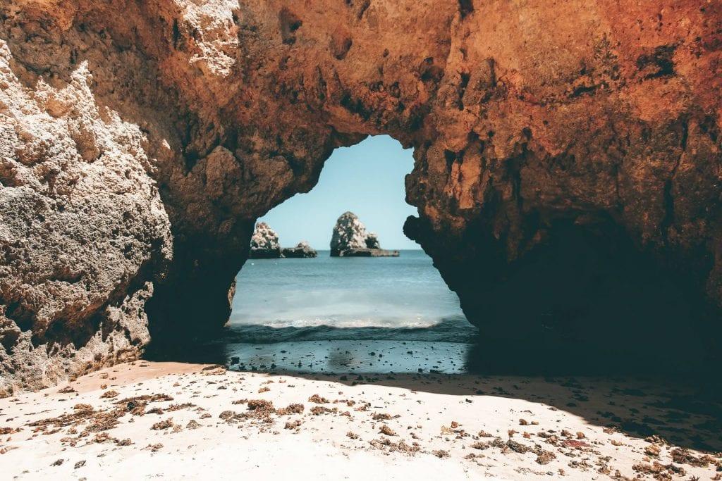 The beaches in the Algarve are unique