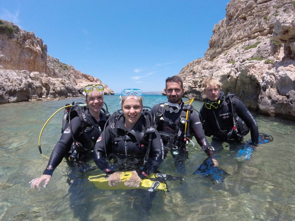 Crete is the perfect spot to try scuba!