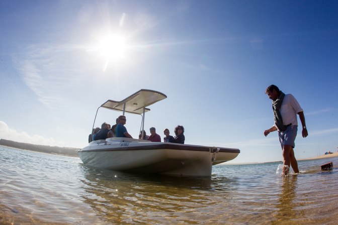 "A solar boat is a great choice if you'd like to minimize your ""travel footprint""."