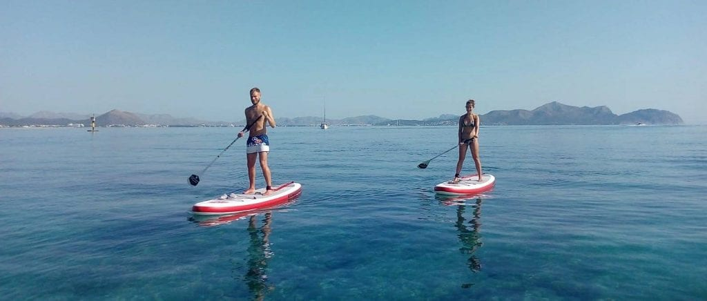 SUP is a great workout