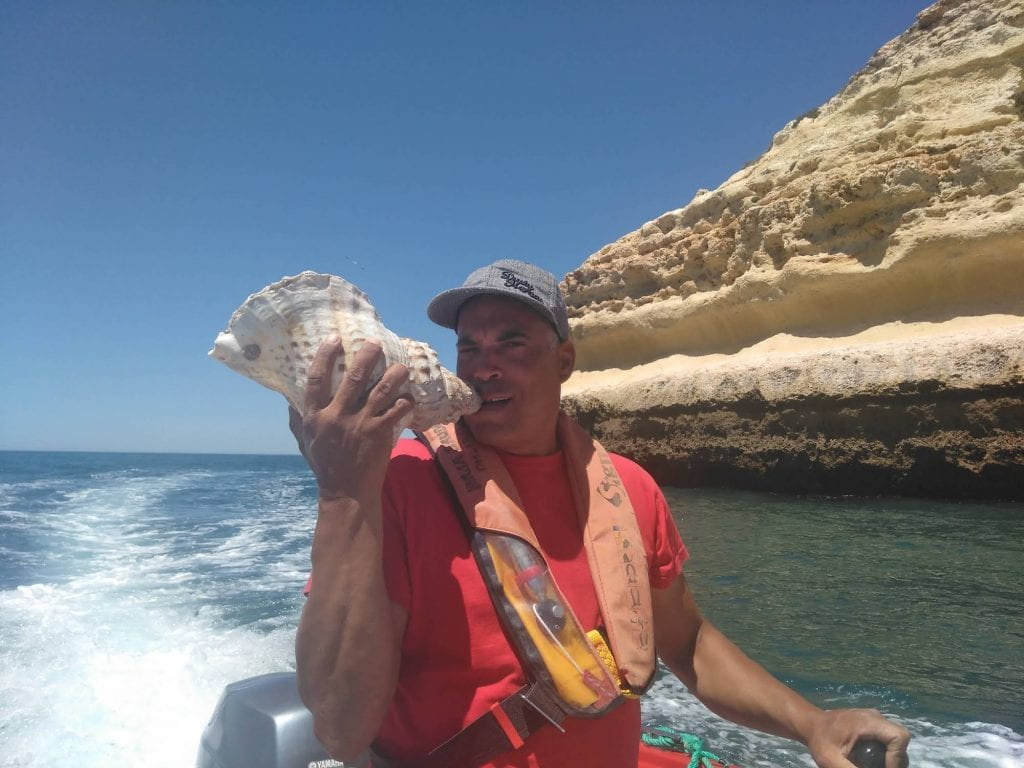 Abílio, our fun and knowledgable skipper