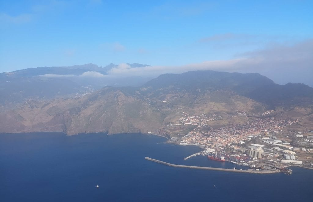 Even from the sky, you can already sense Madeira's wilderness