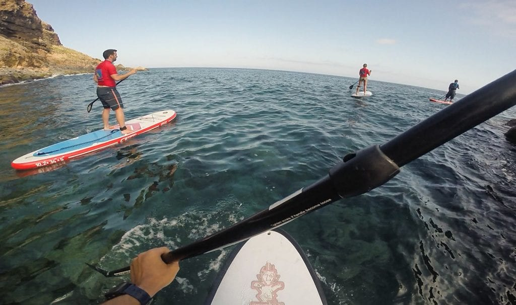 SUP is a very peaceful way to explore the coast of Madeira