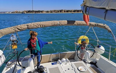 sailing with kids in the Algarve