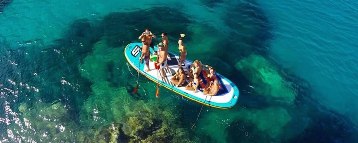 Cover for SUP in Madeira on a fun big board