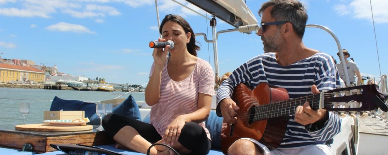 Cover for Live music on a boat in Lisbon