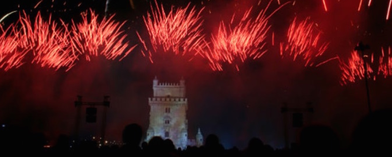 Cover for New Year in Lisbon on a boat