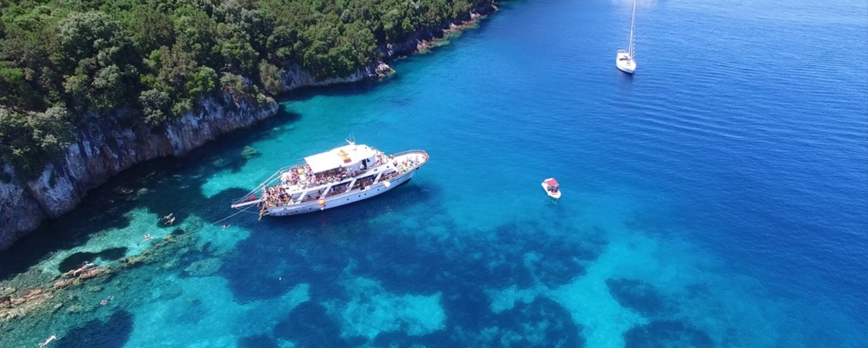 Enjoy the amazing view on this Cruise from Corfu
