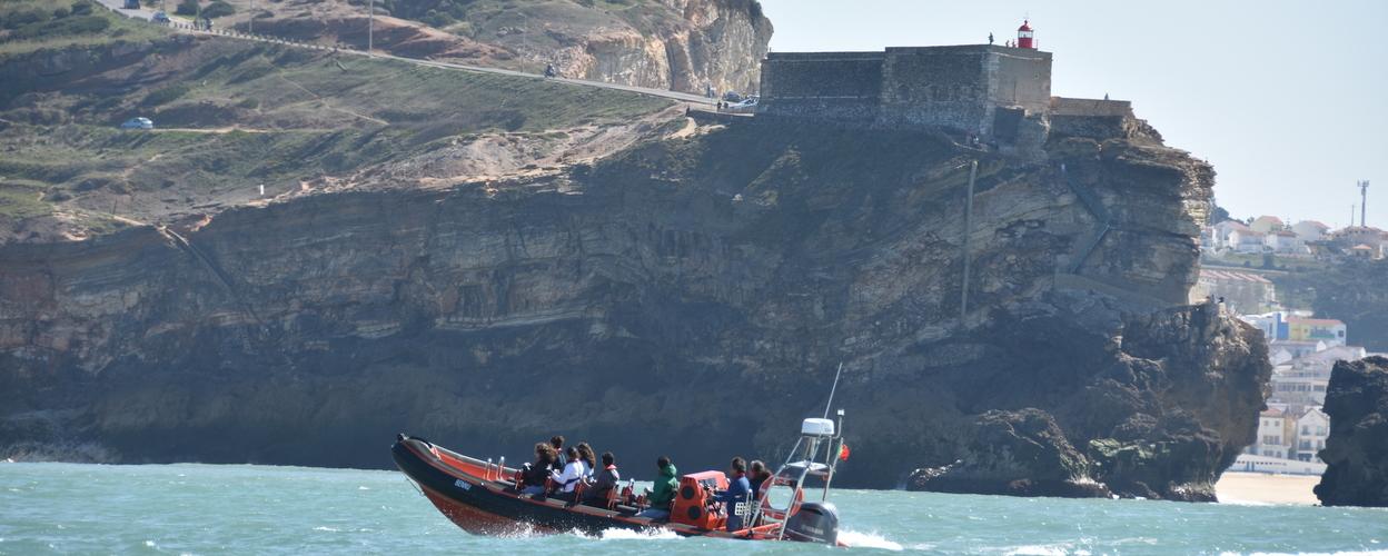 Boat tour to Nazaré Canyon