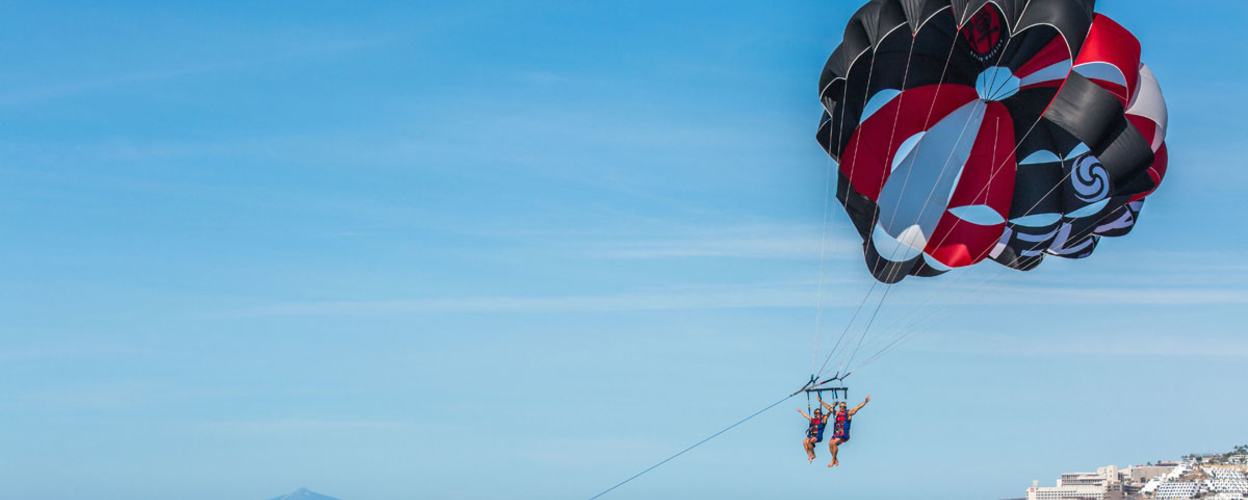 Cover for parasailing in Gran Canaria