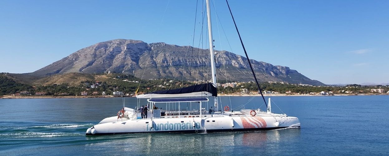 Cover for private sailing catamaran from Dénia