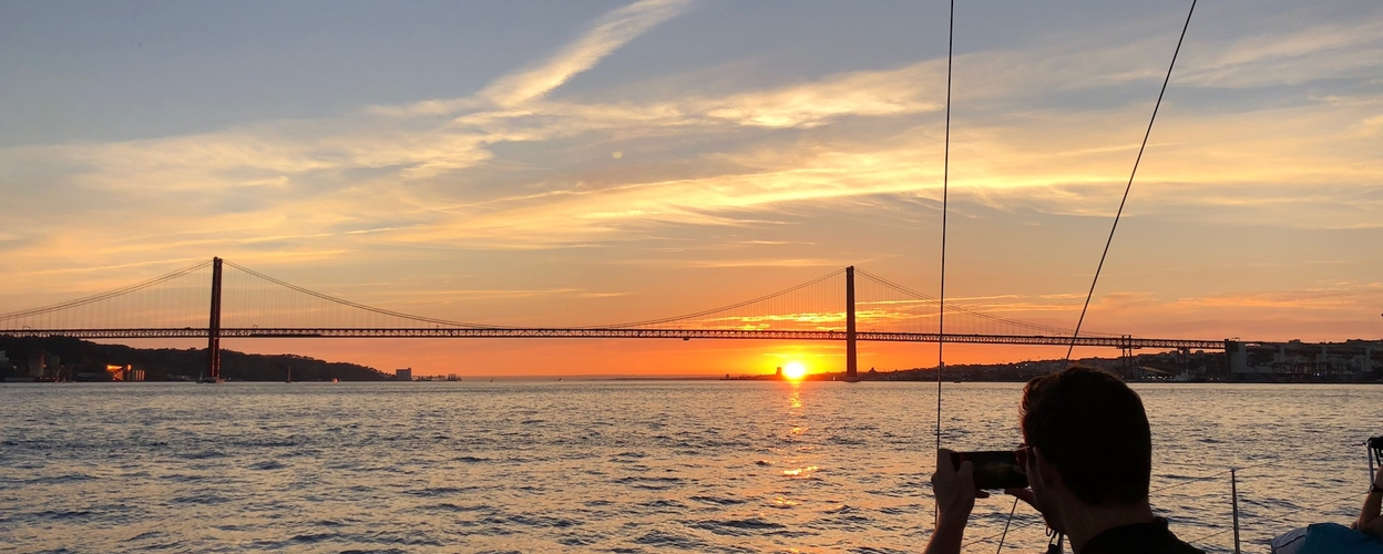 Lisbon sunset sailing experience