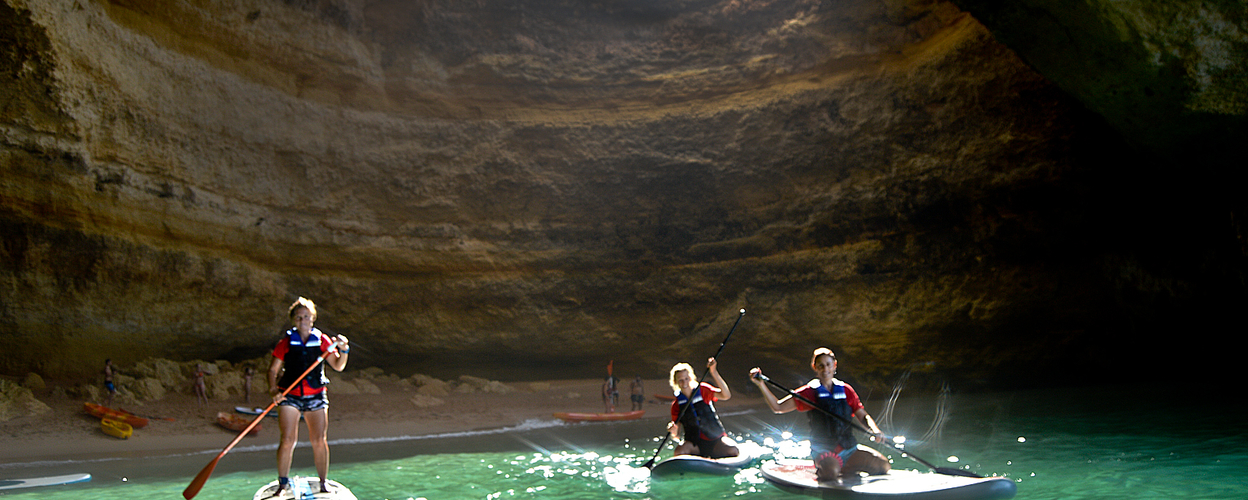 Paddle boards in Benagil
