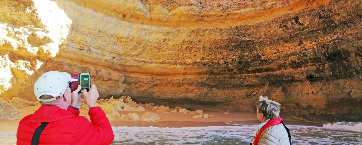 Explore the unique coastline around Benagil