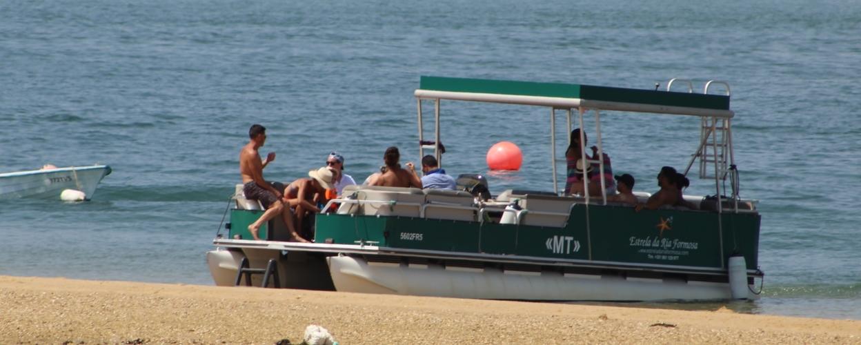 Catamaran in Ria Formosa