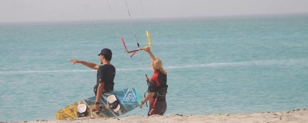 Kitesurf lesson in Boa Vista
