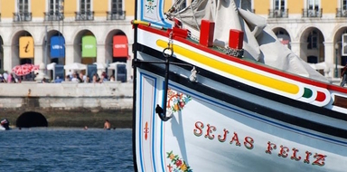 Cover for Lisbon boat tour on a traditional boat