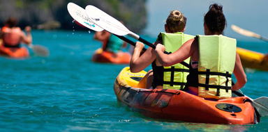 Cover for SUP, kayak & BBQ tour in Vilamoura