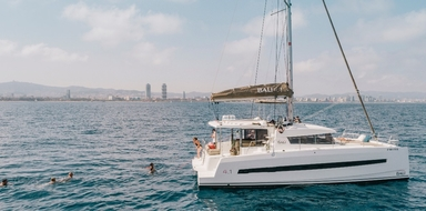 Private catamaran in Barcelona