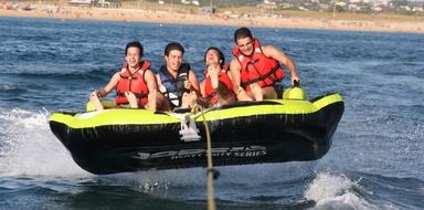 """Cover for Fun watersport in Armação de Pêra - """"crazy sofa"""""""