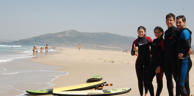 Surfing in Tarifa