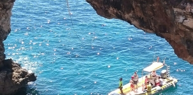 Rope swing in Mallorca
