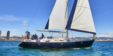 Cover for private sailing charter in Barcelona