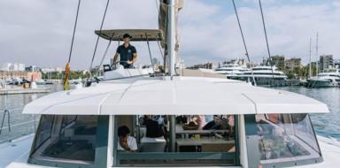 Cover for private catamaran boat trip in Barcelona