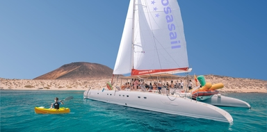 Cover for catamaran boat tour in Lanzarote