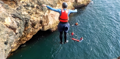 Coasteering in the Algarve