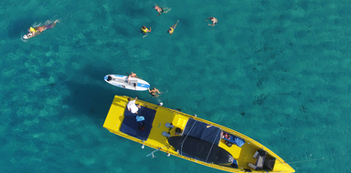 Cover for boat tour with water sports in Ibiza