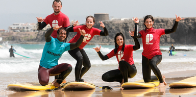 Cover for surf course in Fuerteventura