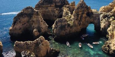 Lagos cave boat tour to Ponta da Piedade