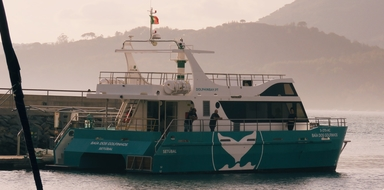 Come on board the catamaran