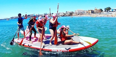 Big SUP group class in Cascais