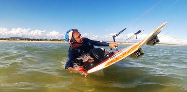 Kitesurfing in Tavira