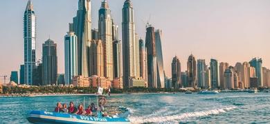 Enjoy the unique views of Dubai