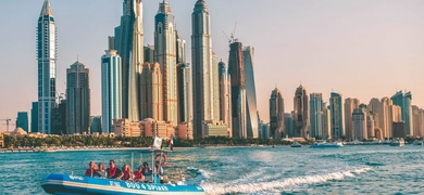 Enjoy the unique views of Dubai