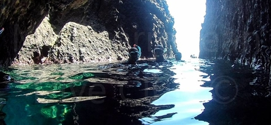 Discover sea caves (if the conditions permit it)