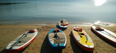 The calm waters around Crete are great to learn SUP Crete