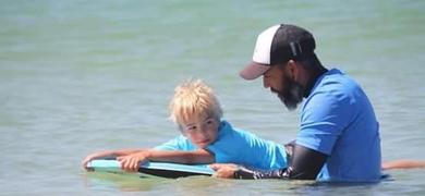 Kids love this bodyboard lesson