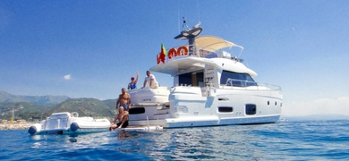 Our luxury yacht is perfect for a lot of fun