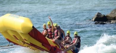Fly fish water sport in Barcelona
